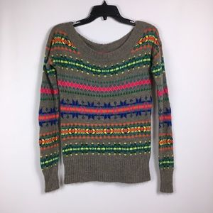 American Eagle Wool Blend Colorful sweater